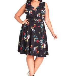 Make Offer City Chic Flowerette Belted Dress 14
